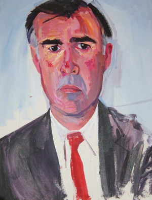 Bachardy's portrait of former California Governor Jerry Brown